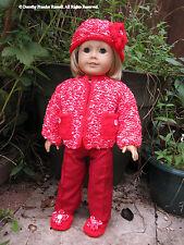 """Patrón de punto """"Cerys"""" HKD611 para que quepa American Girl Doll y similar 18ins/46cm muñecas"""