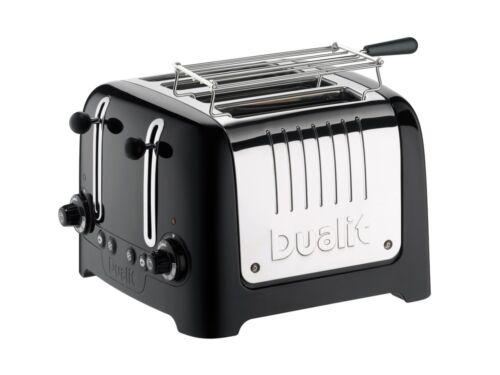Dualit 46205 Lite Grille-pain 4 fentes Noir brillant-Neuf