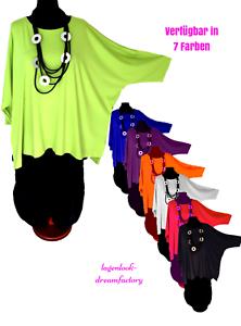 Lagenlook-Long-Kasten-Basic-Shirt-Tunika-Jersey-7-Farben-46-48-50-52-54-56-58-60