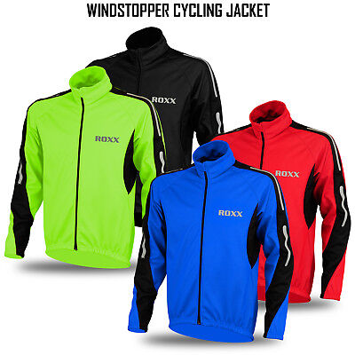 Cycling Jacket Windstoper Winter Thermal Fleece Windproof Long Sleeve Coat NEW