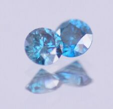 0.50 Carat Fancy Blue Color Enhanced Natural Diamond Loose PAIR STUD ASAAR DEAL