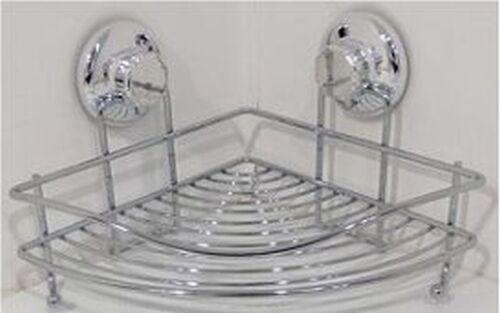 P//Sapone Oggetti Angolare Cromato Mensola Doccia accessori bagno ventosa resiste