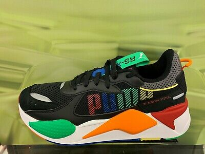Puma RS-X Toys Running System Black Green Orange Red Men Sz 4Y-13 DS  372715-01 | eBay