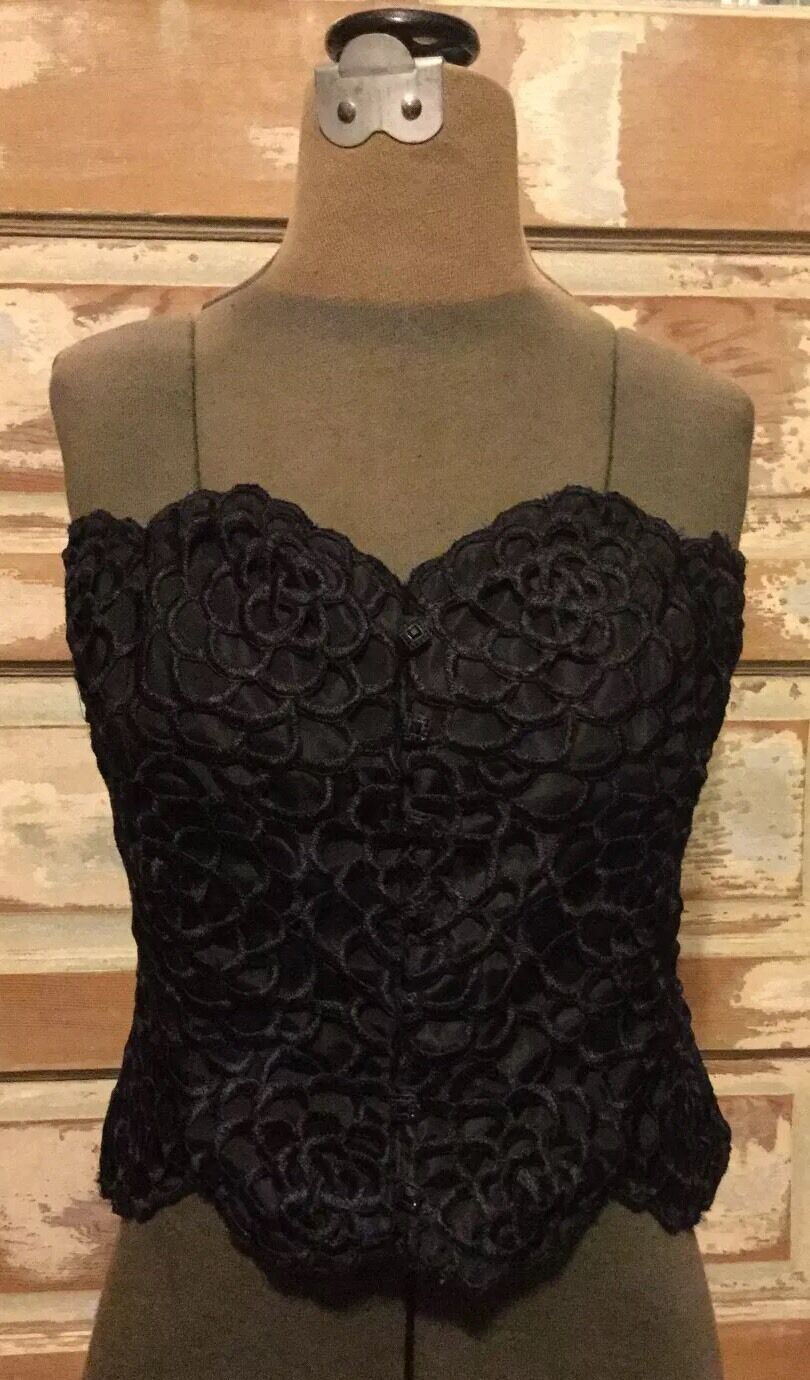 KAY UNGER NEW YORK Stunning Bustier Size 2 Beautiful Embroidery VALENTINE'S GIFT