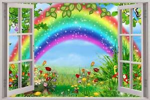 Image Is Loading Fairy Garden 3D Window Decal WALL STICKER Home