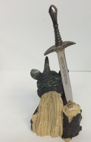 """Rhinoceros Figure Poly Resin Letter Opener Collectable New 9/"""""""
