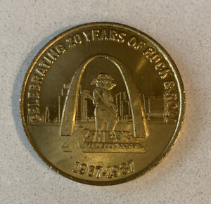 KSHE 95 Rock Radio 20th Anniversary Commemorative Coin 1967-1987