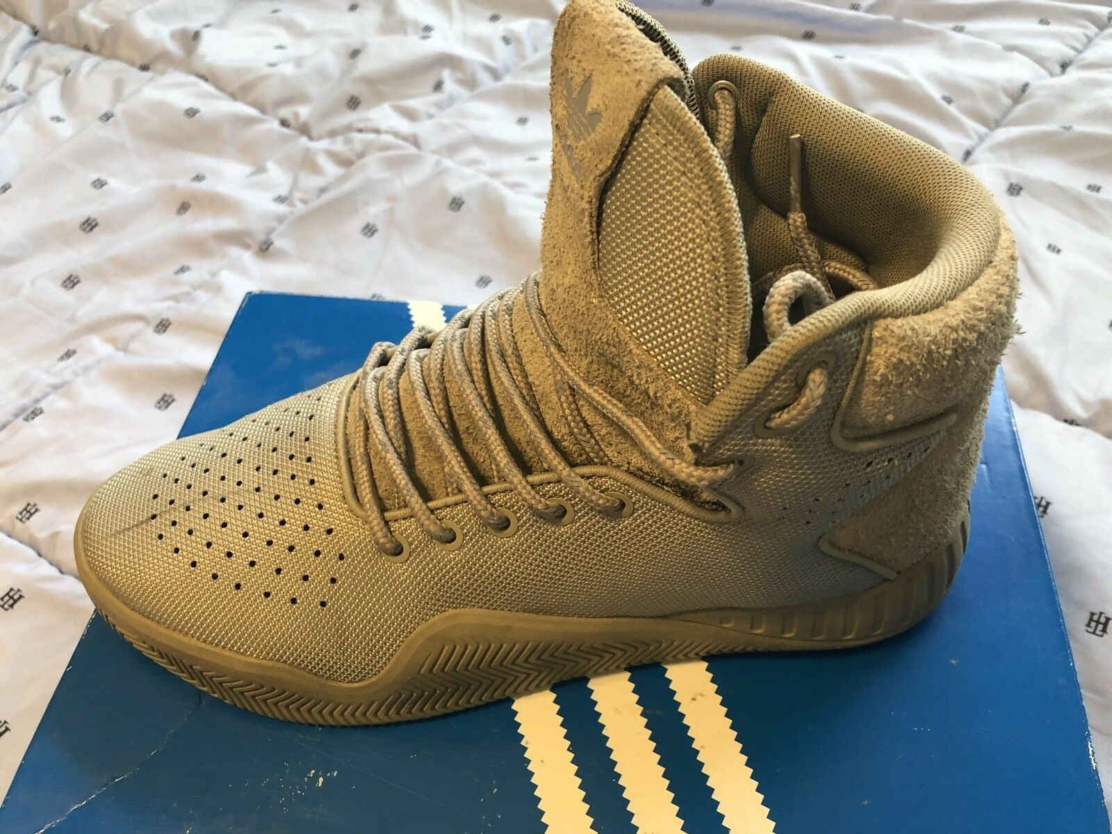 ADIDAS Mens Originals Tubular Instinct Desert green Hightop Sneakers (MSRP  120)