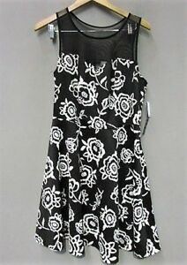 d10fd74f8 Image is loading Trixxi-Clothing-Company-Women-Black-With-White-Floral-