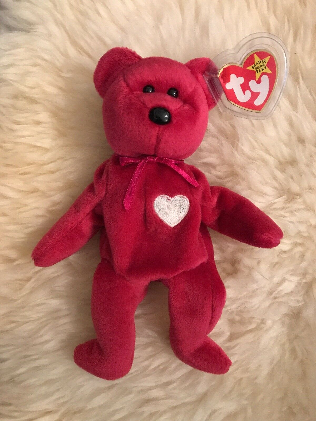 TY Beanie Baby Babies VALENTINA Bear NEW NEW NEW Condition with Tag Error Retired 65cae2