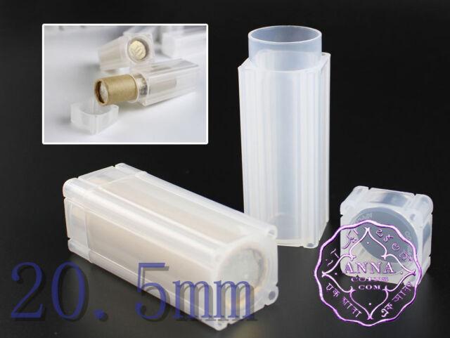 20.5mm Coins Storage Tubes Square Portable Safe X10