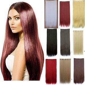 Haarverlaengerung-Clip-In-Glatt-Extensions-Haarteil-Haarverdichtung-XXL-70-cm