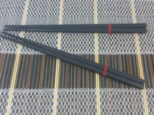 x 2 Pairs Ebony Wood Chopsticks Kitchen Utensil Made in Thailand 10 Inch