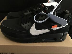 sale retailer 85009 0108f Image is loading Off-White-x-Nike-Air-Max-90-Black-