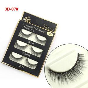 4fd5c7a3dae 3 Pairs New Fashion 3D False Eyelashes Natural Long Eye Lashes ...