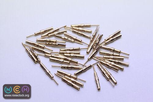 1mm 100pcs Nixie//VFD Tube Socket Pins Gold Plated IN-12 IN-18 IN-2 IN-8 ZM1040