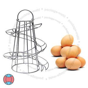 Kitchen-Spiral-Helter-Skelter-Egg-Holder-Stand-Rack-Storage-Holds-up-To-18-Eggs