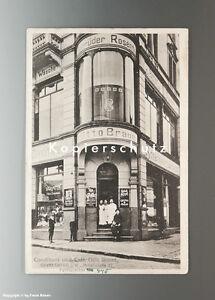 Ansichtskarte-CONDITOREI-mit-REKLAMESCHILDERN-um-1920