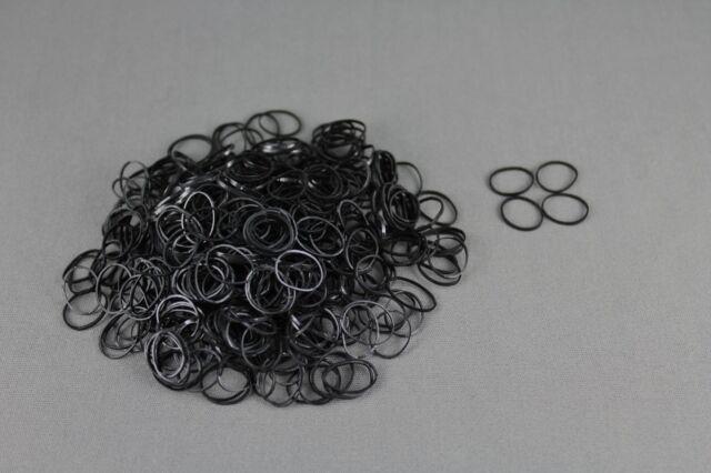 Black Set pack of 500 small tiny mini hair ties elastics rubber bands girl  braid 464b229c190