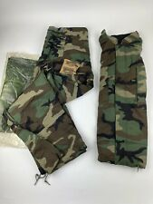 Us Military Chemical Protective Class1 Woodland Camo Suit Coat Amp Pants Large