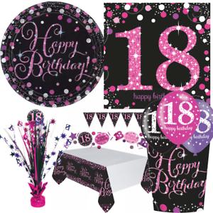 Details Zu 18 Geburtstag Dekoration Mit Zahl 18 Deko Runder Geburtstag Party Tisch Pink