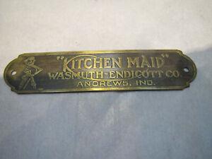 Orig Kitchen Maid, Wasmuth-Endicott, Andrews IN, Hoosier ...