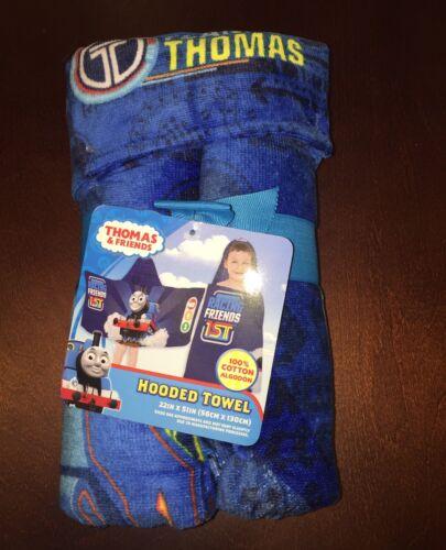 "Thomas and Friends Thomas the Train Hooded Bath Beach Towel New 22/""x51/"""