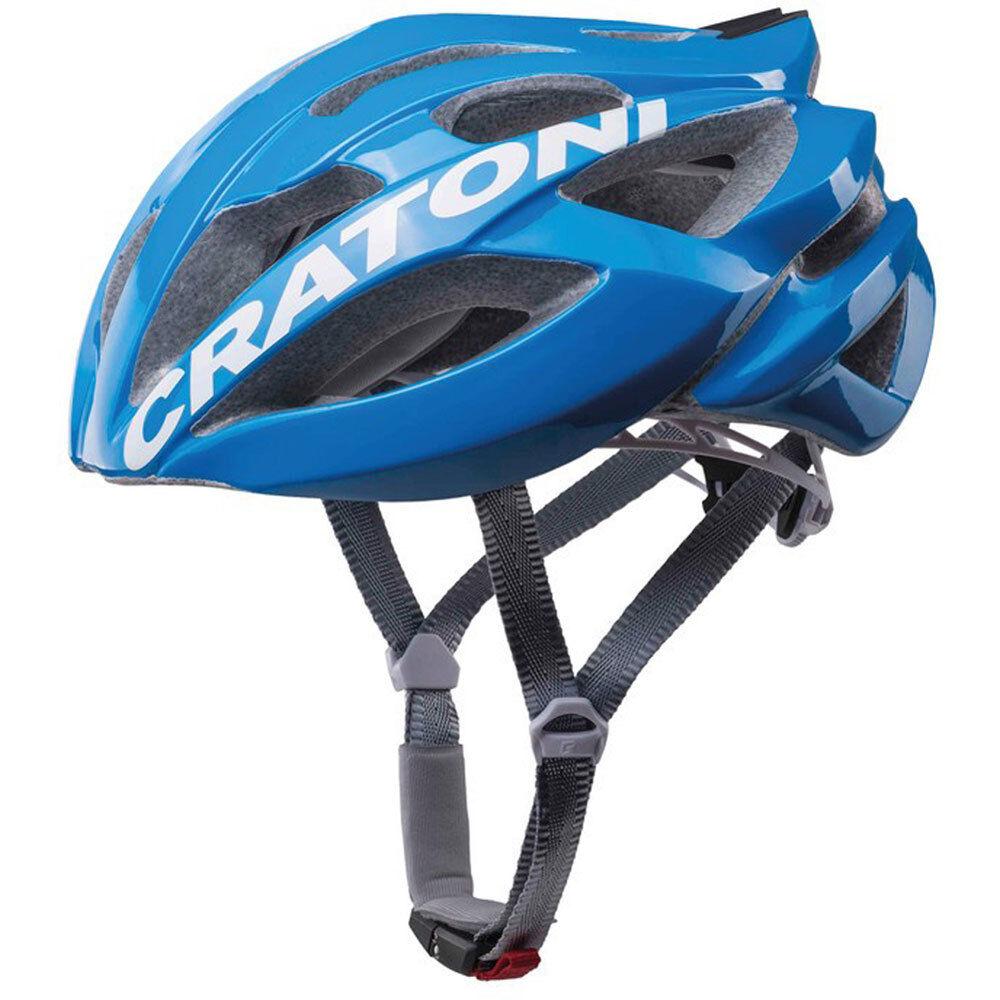 Cratoni Fahrradhelm C-Bolt Road Gr. M L 56-59cm glanz blue weiss Fahrrad