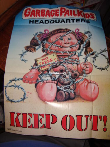 """1986 GARBAGE PAIL KIDS poster GPK #6  keep out  approx size 12/"""" x 17/"""""""