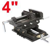 "4"" CROSS DRILL PRESS Vise X-Y Clamp Heavy Duty Machine Slide Metal Milling 2 Way"