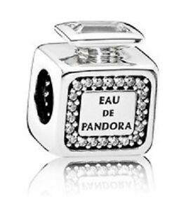 New-Pandora-Charm-Signature-Scent-Perfume-Bottle-791889CZ-W-Tag-amp-Suede-Pouch