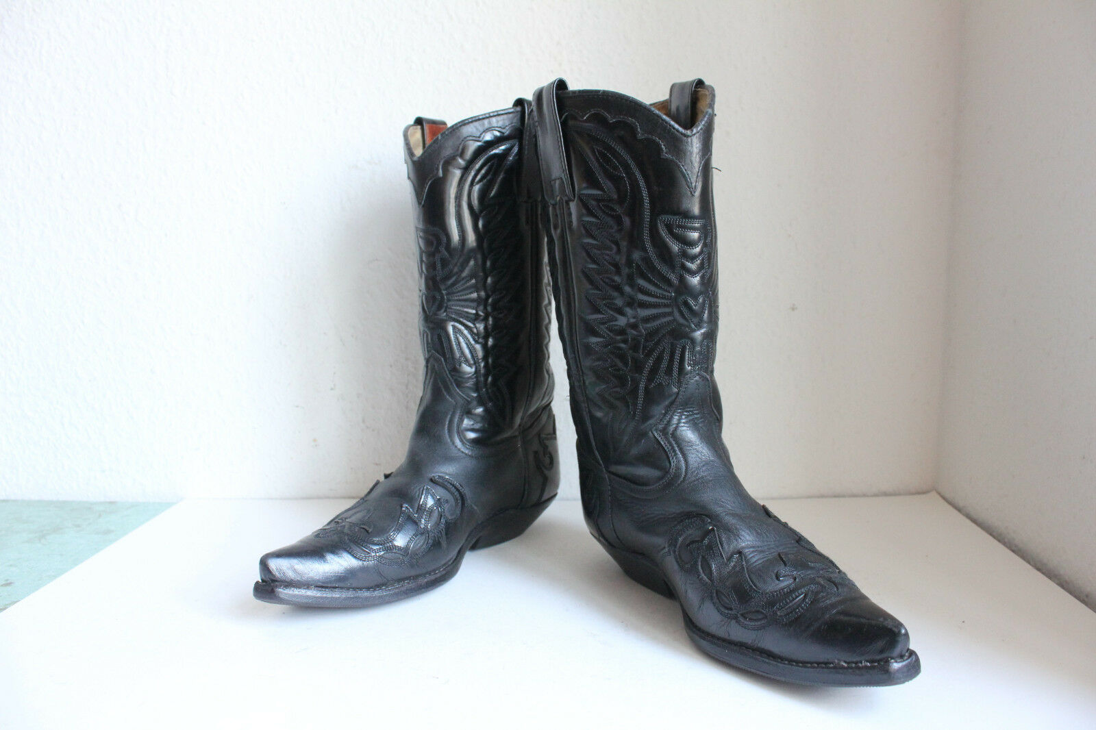 PrimeStiefel Western Stiefel Cowboystiefel Voll Echtleder Schwarz Eu 40,5-41