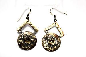 Modeschmuck-Damen-Maedchen-lange-Ohranhaenger-Ohrpins-Ohrringe-Farbe-Bronze-silber