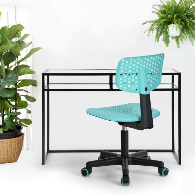 Turquoise Students Computer Desk Writing Swivel Chair Lovely Dorm School Chairs