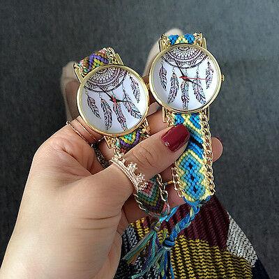 Geneva Hand-Woven Handmade Dream Catcher Braided Friendship Bracelet Lady Watch