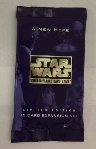 Star Wars A New Hope Limited Edition CCG  Factory Sealed Booster Pack Decipher