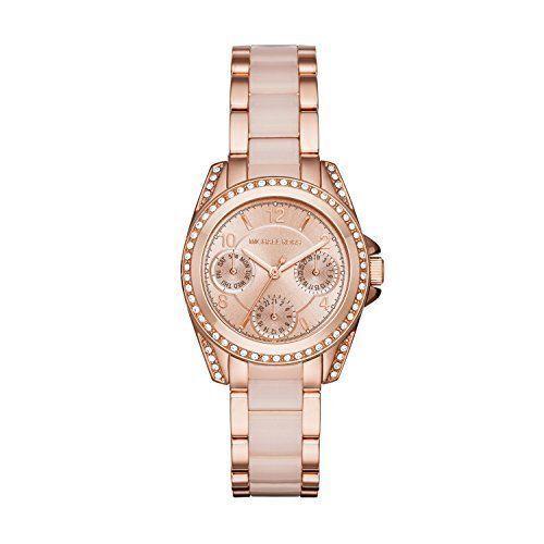 3a544df837db Michael Kors Women s Mini Blair Rose Gold-tone Watch MK6175 for sale online