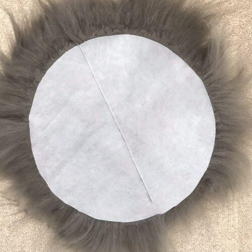 100/% Véritable Peau De Mouton Siège Pad Islandais roundie 35 cm Gris Chaud Longue UK