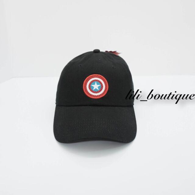 b32e3e24ab965 NWT VANS MARVEL Captain American Shield Hat Cap Strapback Adjustable Black  Multi