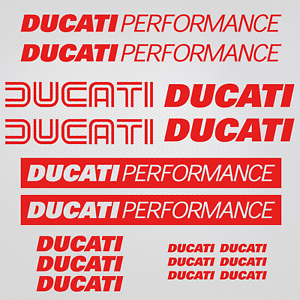 Adesivi-Ducati-Performance-sticker-17x-replica-carro-armato-casco-sport-da-corsa
