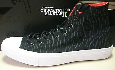49836fcba54cfa Converse Chuck Taylor All Star 2 II Hi Reflective Black 153532C Mens ...