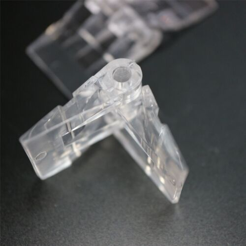 Clear Acrylic Perspex Transparent 4x Small Miniature Micro Hinges 39mm x 16mm