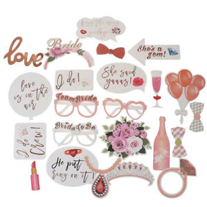 23PCS-Photo-Booth-Props-Wedding-Pink-Team-Bride-To-Be-Hen-Party-Birthday-ZFCSH