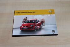 99731) Opel Astra Edition Sport Prospekt 02/2012