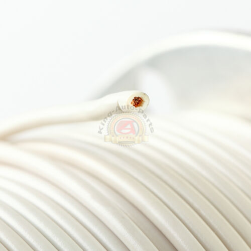 500FT WHITE 14 GAUGE AWG WIRE PRIMARY STRANDED COPPER MADE IN USA