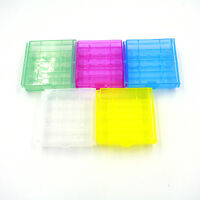 1/5/10X Plastic Translucent Case Holder Storage Box for AA AAA Battery MW