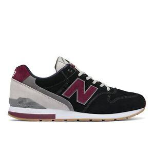 New-Balance-NB-996-Homme-Running-Baskets-Chaussures-noir-avec-Red-MRL996-ND