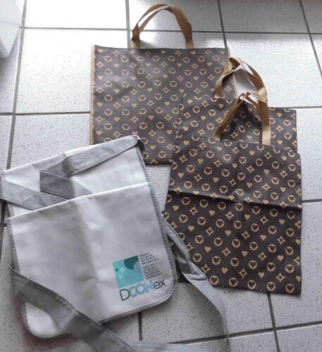 5 Stück leichte Stoff- Taschen mit Herzchen drauf +  Messenger Bag Form neu