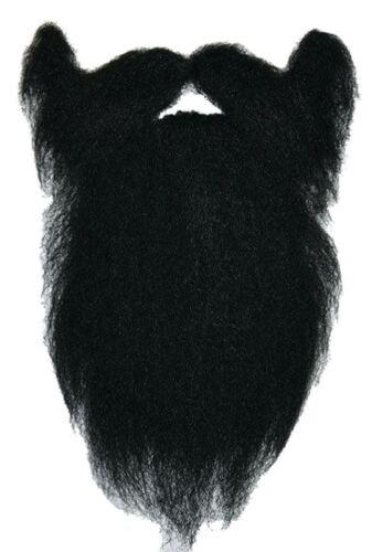 Adulti Grande Pirata Nero carattere Viking Guerriero Costume Barba finta