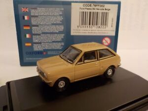 Ford-Fiesta-MK1-Brown-Model-Cars-Oxford-Diecast